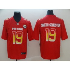 Pittsburgh Steelers #19 JuJu Smith-Schuster Red Nike AFC 2019 Pro Bowl Game Jersey