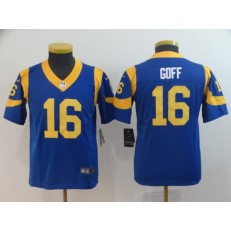 Youth Nike Los Angeles Rams #16 Jared Goff Royal Vapor Untouchable Limited Jersey