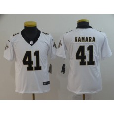 Youth Nike New Orleans Saints #41 Alvin Kamara White Vapor Untouchable Limited Jersey
