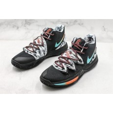 NIKE KYRIE 5 BLACK BLUE ORANGE GREY AO2919-910