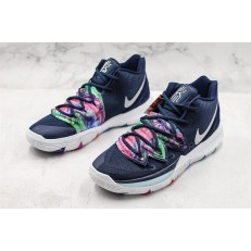 NIKE KYRIE 5 EP BLACK NAVY WHITE MULTI COLOR SILVER AO2919-900