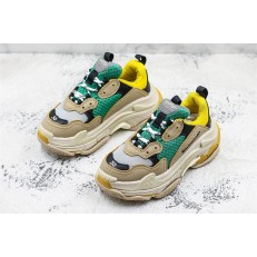 KID'S BALENCIAGA TRIPLE S 17W YELLOW GREEN