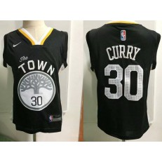 Golden State Warrior #30 Stephen Curry Black Nike Toddler Jersey