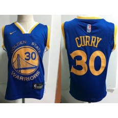 Golden State Warrior #30 Stephen Curry Blue Nike Toddler Jersey