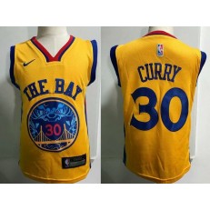 Golden State Warrior #30 Stephen Curry Yellow Nike Toddler Jersey