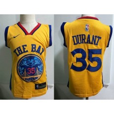 Golden State Warrior #35 Kevin Durant Yellow Nike Toddler Jersey