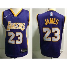 Los Angeles Lakers #23 LeBron James Purple Nike Toddler Jersey