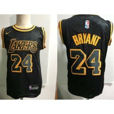 Los Angeles Lakers #24 Kobe Bryant Black Nike Toddler Jersey