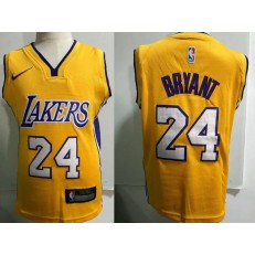 Los Angeles Lakers #24 Kobe Bryant Yellow Nike Toddler Jersey