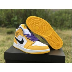AIR JORDAN 1 MID SE LAKERS 852542-700