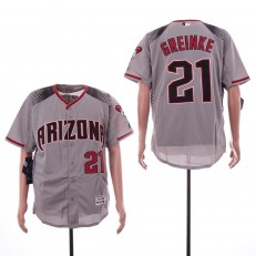 MLB Arizona Diamondbacks #21 Zack Greinke Gray Flexbase Jersey