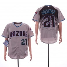 MLB Arizona Diamondbacks #21 Zack Greinke Gray Teal Flexbase Jersey