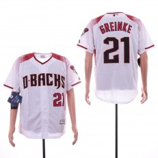 MLB Arizona Diamondbacks #21 Zack Greinke White Flexbase Jersey