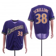 MLB Arizona Diamondbacks #38 Curt Schilling Purple Throwback Jersey