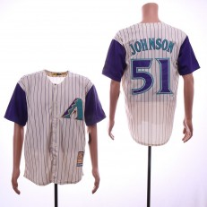 MLB Arizona Diamondbacks #51 Randy Johnson Cream Cooperstown Collection Cool Base Jersey