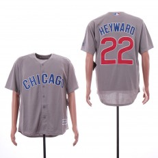 MLB Chicago Cubs #22 Jason Heyward Gray Cool Base Jersey