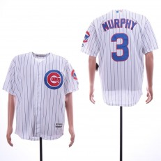 MLB Chicago Cubs #3 Daniel Murphy White Cool Base Jersey