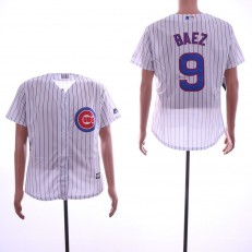 MLB Chicago Cubs #9 Javiers Baez White Cool Base Jersey