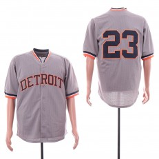 MLB Detroit Tigers #23 Kirk Gibson Gray BP Jersey