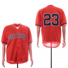 MLB Detroit Tigers #23 Kirk Gibson Orange Mesh Throwback Jersey