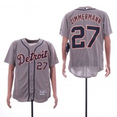 MLB Detroit Tigers #27 Jordan Zimmermann Gray Flexbase Jersey