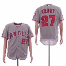 MLB Los Angeles Angels #27 Mike Trout Gray Flexbase Jersey