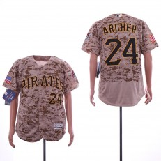 MLB Pittsburgh Pirates #24 Chris Archer Camo Flexbase Jersey