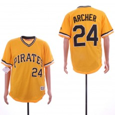 MLB Pittsburgh Pirates #24 Chris Archer Gold Cool Base Jersey