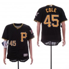 MLB Pittsburgh Pirates #45 Gerrit Cole Black Flexbase Jersey