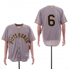 MLB Pittsburgh Pirates #6 Starling Marte Gray Throwback Jersey