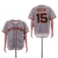 MLB San Francisco Giants #15 Bruce Bochy Gray Cool Base Jersey
