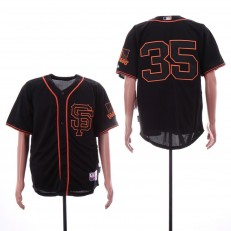 MLB San Francisco Giants #35 Brandon Carwford Black Alternate Cool Base Jersey