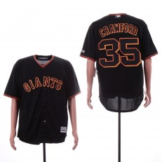 MLB San Francisco Giants #35 Brandon Carwford Black Cool Base Jersey