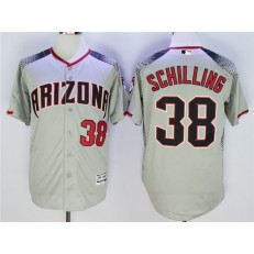 MLB Arizona Diamondbacks 38 Curt Schilling Gray Flexbase Men Jersey