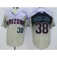 MLB Arizona Diamondbacks 38 Curt Schilling Gray Teal Flexbase Men Jersey