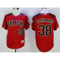 MLB Arizona Diamondbacks 38 Curt Schilling Red Flexbase Men Jersey