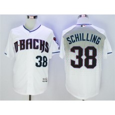 MLB Arizona Diamondbacks 38 Curt Schilling White Teal Flexbase Men Jersey