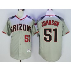 MLB Arizona Diamondbacks 51 Randy Johnson Gray Flexbase Men Jersey