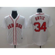 MLB Boston Red Sox 34 David Ortiz White Cool Base Men Jersey