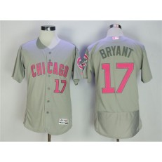 MLB Chicago Cubs 17 Kris Bryant Gray Mother's Day Flexbase Men Jersey