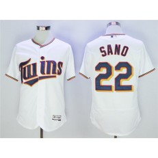 MLB Minnesota Twins 22 Miguel Sano White Flexbase Men Jersey