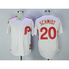 MLB Philadelphia Phillies 20 Mike Schmidt White Cooperstown Collection Cool Base Men Jersey