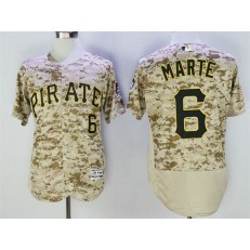 MLB Pittsburgh Pirates 6 Starling Marte Camo Flexbase Men Jersey