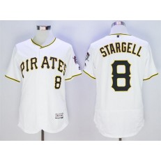 MLB Pittsburgh Pirates 8 Willie Stargell White Flexbase Men Jersey