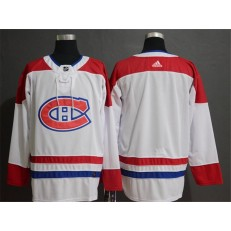 Montreal Canadiens Blank White Adidas NHL Men Jersey