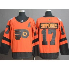 Philadelphia Flyers 17 Wayne Simmonds Orange 2019 NHL Stadium Series Adidas NHL Men Jersey