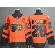 Philadelphia Flyers 28 Claude Giroux Orange 2019 NHL Stadium Series Adidas NHL Men Jersey