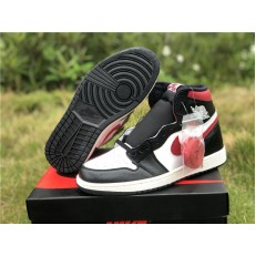 AIR JORDAN 1 HI BLACK WHITE GYM RED 555088-061