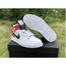 AIR JORDAN 1 MID WHITE RED BLACK 554724-116