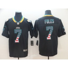 Jacksonville Jaguars #7 Nick Foles Black USA Flag Fashion Limited Nike NFL Men Jersey